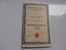 COOPERATIVES DE CEREALES DE LA REGION DE TIARET (1953) ALGERIE - Non Classificati