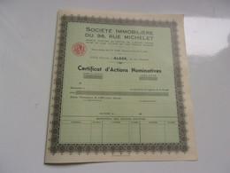 IMMOBILIERE DU 96  RUE MICHELET (alger-algerie) - Non Classificati