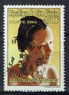 Côte D'Ivoire, 350f, Tresses Africaines, 2005, Obl, TB - Côte D'Ivoire (1960-...)