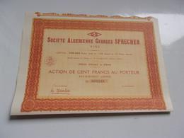 ALGERIENNE GEORGES SPRECHER (vins) ORAN-ALGERIE - Non Classificati