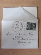 France - Timbre Exposition Coloniale N°270 Sur Petite Enveloppe Contenant Une Carte De Visite - 1932 - Daguin - 1921-1960: Modern Tijdperk
