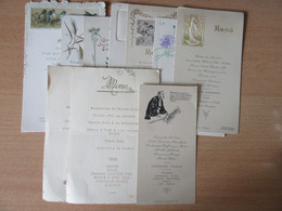 Lot De 10 Menus Dont 7 De L'Hôtel De L'Europe D'Yssingeaux Certains Datés 1902, 1906, 1907, 1908, 1934 - Menus