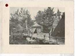 5 Gravures Fin XIXe Expo Universelle 1889 Habitat.lacustres,Beaux-Arts,Forêts,Fontaine Coutan + Forêt De Fontainebleau - Estampes & Gravures