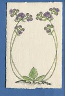 Jolie Carte Style ART NOUVEAU Fleurs Chardon En Très Bel état - Blumen