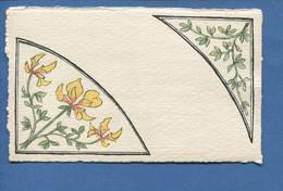 Jolie Carte Style ART NOUVEAU Fleurs Iris Jaune Bel état - Blumen