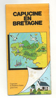 Carte Capucine En Bretagne Avec Bande Dessinée Bonjour Je M'appelle Capucine Maison Phénix - Format : 22.5x10.5 Pliée - Carte Geographique