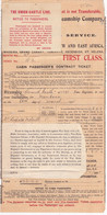 24324# UNION CASTE MAIL STEAMSHIP COMPANY FIRST CLASS FROM LONDON FOR MOMBASA KENYA 1915 ROYAL  MAIL SERVICE - Europe