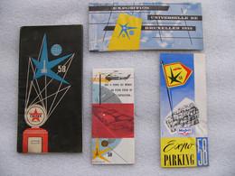 Ensemble De 4 Dépliants De L' Exposition Universelle De Bruxelles 1958 Dont Brasserie Léopold Belgique Brussels Belgium - Tourism Brochures