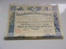 ALGERIENNE MATERIEL AGRICOLE (capital 5,76 Millions)1928 - Non Classificati