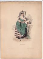 Gravure - Collection Musée Cosmopolite N°5 - France 1 Bressane - Maison Aubert à Paris (75) - Costumes Traditionnels - Estampes & Gravures