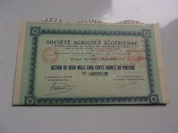 AGRICOLE ALGERIENNE  (alger ALGERIE) - Non Classificati