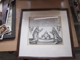 Church Prayer Old Engraving Germani - Estampes & Gravures