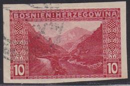 345.Austria Issue For Bosnia 1906 Definitive Vrbas Valley Imperforated USED M#50 - Bosnië En Herzegovina