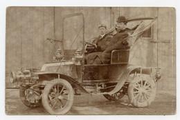 Carte Photo.voiture. Automobile Ancienne. Chauffeur. - Turismo