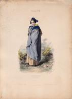 Gravure - Collection Musée De Costumes N°230 - France 43 Arlésienne - Maison Aubert à Paris (75) - Estampes & Gravures