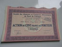 ABATTOIRS ET CONSERVES ALIMENTAIRES DU NORD DE L'AFRIQUE (1928) Maison Carrée,algerie - Non Classificati