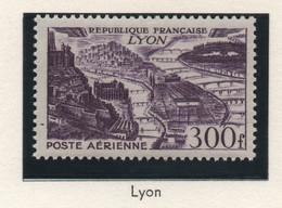 Lot De 2 Timbres Neufs Poste Aérienne 1949 YT PA 26 Et 27 - 300 F. Violet (Lyon) Et 500 F. Rouge (Marseille) - 1927-1959 Ungebraucht