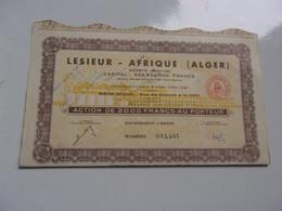 LESIEUR AFRIQUE (1961) Alger , Algérie - Non Classificati