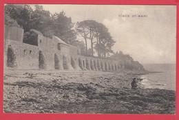 CPA-29- VIEUX SAINT-MARC - Ramparts Et Plage - Postée De Lambézelec- écrite 1914 *Scan Recto/Verso - Autres Communes