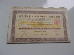 LESIEUR AFRIQUE (1962) Alger , Algérie - Non Classificati