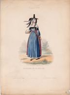 Gravure - Collection Musée De Costumes N°341 - France 72 Paysanne De La Bresse - Maison Aubert à Paris (75) - Estampes & Gravures