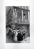 Gravure Illustration Du 19 ° Siècle -  La Maison De Molière - Other