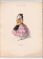 Gravure - Collection Musée De Costumes N°152 - Espagne Portugal N°15 La Manola (Madrid) - Maison Aubert à Paris (75) - Estampes & Gravures