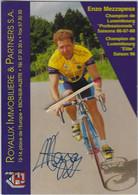 CYCLISME. Carte Dédicacée De Enzo MEZZAPESA. Champion Du Luxembourg Professionnel 1986/87/88 - Cyclisme