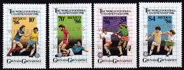 Grenada/Grenadinen, 1986, 782/85,  MNH **, Football World Cup Mexico 86, Winner - 1986 – Mexiko