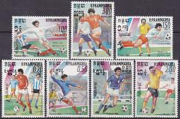 Kambodscha, 1985, 632/38,  MNH **, Football World Cup Mexico 86, - 1986 – Mexiko