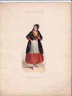 Gravure - Collection Musée De Costumes N°293 - Espagne Portugal N°17 Curra De Séville - Maison Aubert à Paris (75) - Estampes & Gravures