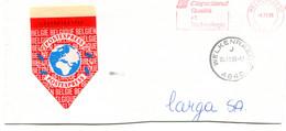 1996 POSTEXPRESS Vignet Op Fragment Enveloppe COPELAND Welkenraedt J + Rode Machine Stempel - Covers & Documents