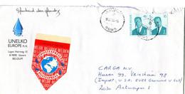 1996 POSTEXPRESS Vignet Op Enveloppe Unelko Europa Gavere  B Naar Antwerpen + 2 X 16 Fr Frankering Albert II - Covers & Documents