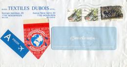 1997 POSTEXPRESS Vignet Op Prior Enveloppe Textile Dubois Moeskroen G + 32 Fr Frankering - Covers & Documents