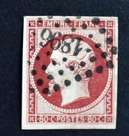 1854 Yvert N° 17A - 80 C. Carmin - 1853-1860 Napoleone III