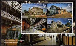 Ireland 2017, Irish Railway Stations, MNH S/S - Ungebraucht