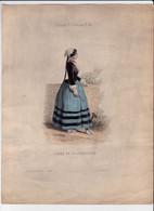 Gravure - Collection Musée De Costumes N°375 - Espagne Portugal N°33 Femme De La Catalogne - Maison Aubert à Paris (75) - Estampes & Gravures