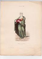 Gravure - Collection Musée De Costumes N°195 - Turquie N°40 Femme Du Peuple - Maison Aubert à Paris (75) - Estampes & Gravures