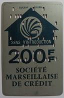 FRANCE - CHUBB / DUCERF ATM TEST CASH CARD - Societe Marseillaise De Credit - 1st ATM System - Late 1960s - Used - RRR - Carte Di Credito (scadenza Min. 10 Anni)