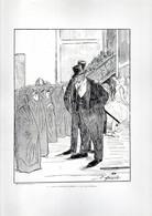 Gravure Illustration Du 19 ° Siècle -  ... Faut Attendre Encore Un An .mon Général... - Other