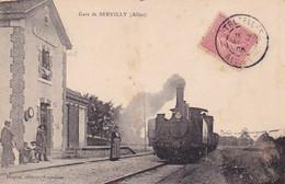 03, Servilly, Gare, Animée, Train, Annotée - Altri Comuni