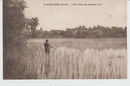 CPA CLAIRVAUX (39) UN COIN DU GRAND LAC - ANIMEE - PÊCHEUR (CACHET AMBULANT D' ARINTHOD à LONS-LE-SAUNIER) - Clairvaux Les Lacs