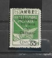 Arbe Reggenza Italiana Del Carnaro 1920 Cent. 55 Su 5 N.10 * - Arbe & Veglia