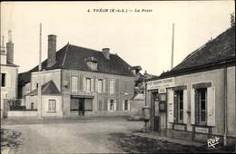 CPA Tréon Eure-et-Loir, La Poste - Other Municipalities