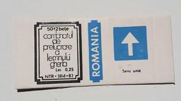 PANNEAUX ROUTIERS/ ROAD SIGNS/SEGNALI STRADALI,ROMANIA,GHERLA MATCHBOXES FACTORY,SKILLET UNFOLDED,1980 PERIOD - Scatole Di Fiammiferi