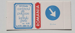 PANNEAUX ROUTIERS/ ROAD SIGNS/SEGNALI STRADALI,ROMANIA,GHERLA MATCHBOXES FACTORY,SKILLET UNFOLDED,1980 PERIOD - Matchboxes