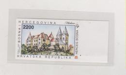 BOSNIA AND HERZEGOVINA 1993   CROATIAN POST PLEHAN Imperforated Proof MNH - Bosnië En Herzegovina