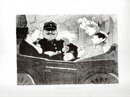 Gravure Illustration Du 19 ° Siècle -  ...Mariage Bourgeois .La Voiture De Noce ... - Other