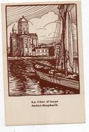 43425-ZE-83-La Côte D'Azur-Saint-Raphaël----------CHEMIN DE FER P.L.M.- EXPLOITATION-----------carte Commerciale - Saint-Raphaël