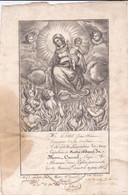 Diplôme De L'Association Du Sacré Scapulaire De ND Du Mont-Carmel à Besançon (25) Attribué à J.E. Prétet 18 Février 1812 - Religione & Esoterismo